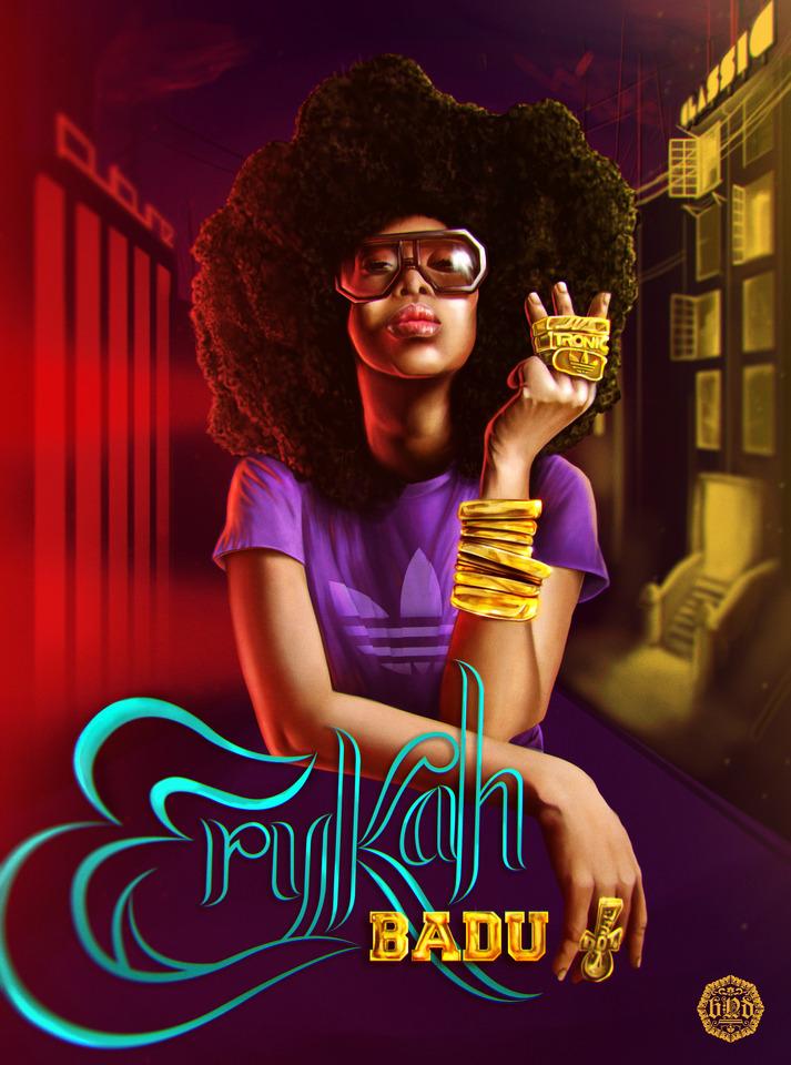Erykah Badu by Christian Jaime Flores