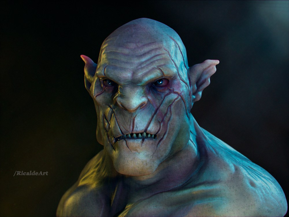 Azog Fanart by Angel Ricalde