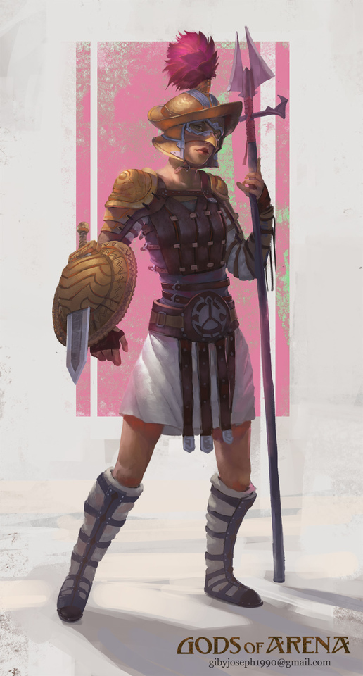 Female Gladiator by Giby Joseph