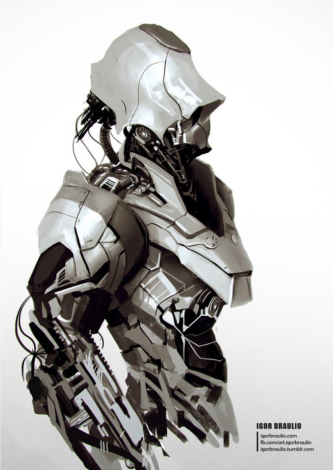 Robot Sketch by igor braulio