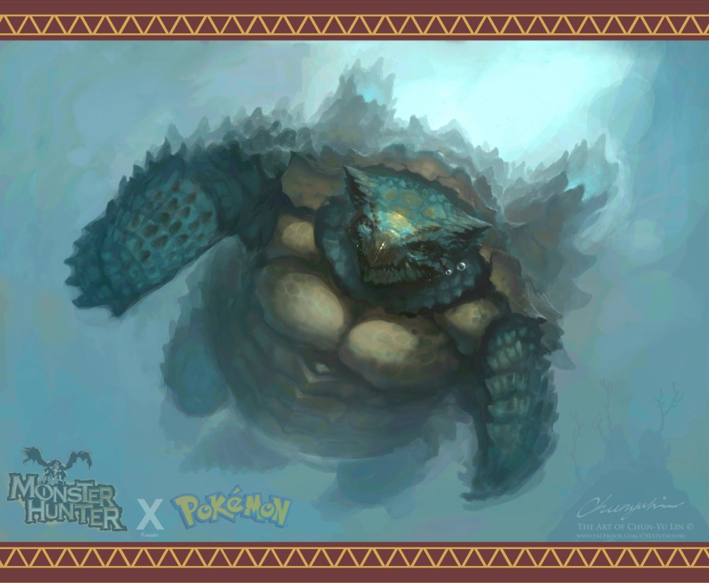 Monster Hunter Blastoise by cylstudio81