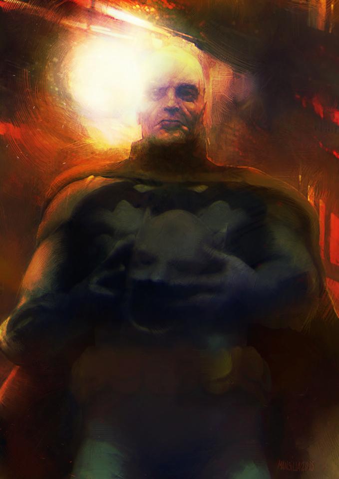 Old Batman by Chema Mansilla