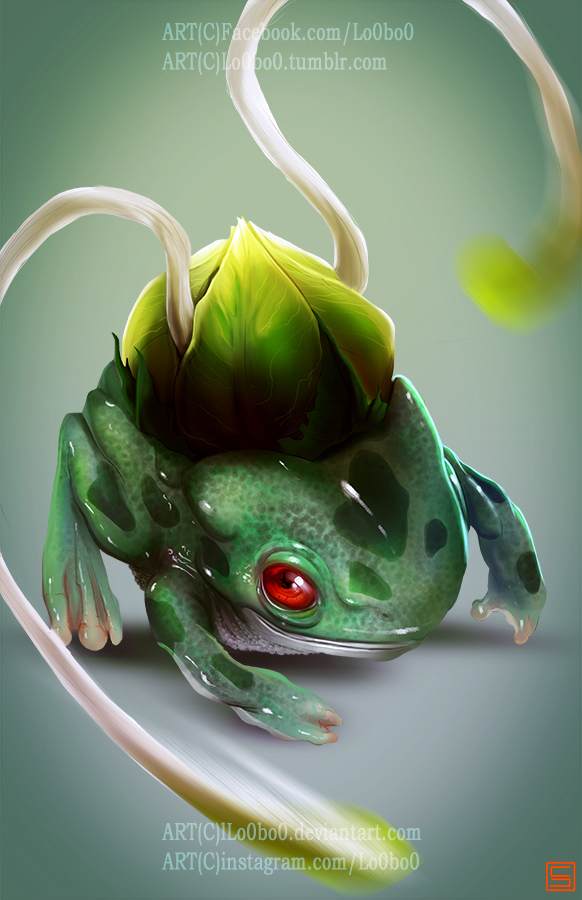 Pokemon Project 001 Bulbasaur Bylo0bo0 by Sergio Palomino