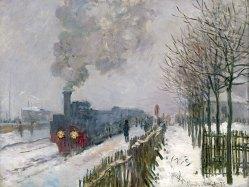 Claude Monet Eisenbahn im Schnee, Lokomotive, 1875 Öl auf Leinwand Musée Marmottan Monet, Paris © Musée Marmottan Monet, Paris / Bridgeman Images