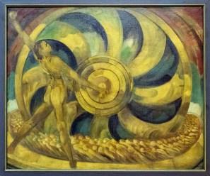 Muzeum umění Olomouc, výstava Rozlomená doba 1908 – 1928, Anton Jasusch, Žlutý mlýn, 1920 - 21