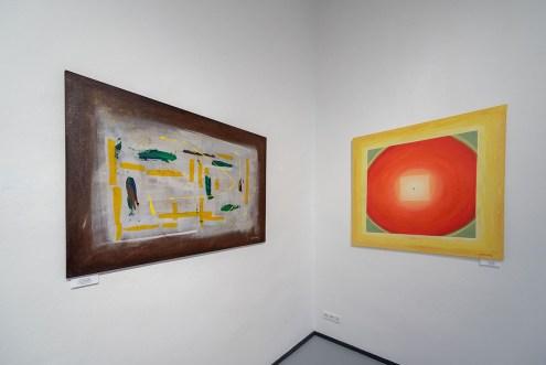 Malířka Jarmila Králová v Galerii 1