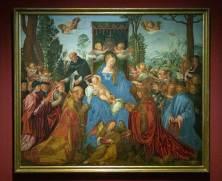 Albrecht Dürer-Vídeň-Albertina-Růžencová slavnost, kopie podle Albrechta Dürera