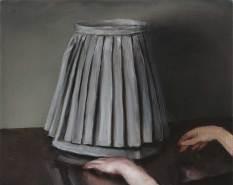 Michaël-Borremans-The-Skirt-2-2005-oil-on-canvas-40-x-50cm.-Private-collection-photo-Peter-Cox