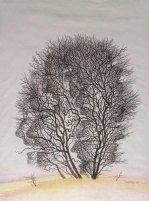 ©Pavel Sivko, Rozhovor s vlastní hlavou, kolor.kresba 2006