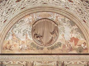 Jacopo Pontormo: Vertumus és Pomona (freskó részlet), 1520-1521, Villa Medici, Poggio a Caino