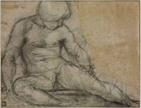 Jacopo Pontormo: Alaktanulmány, 1514-1516 k., Szépművészeti Múzeum, Budapest