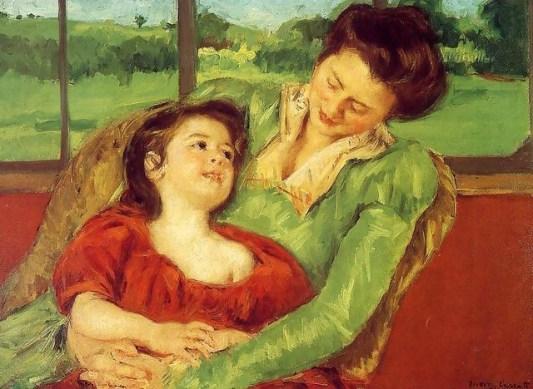 Mary Cassatt: Anya és lánya, 1902