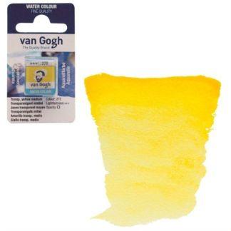 Акварельная краска Van Gogh 272 Прозрачный желтый средний 2,5 мл кювета Royal Talens