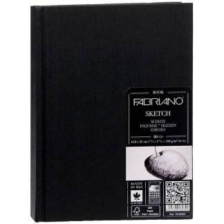 19100001 Альбом для эскизов Sketch Book А5 (14,8х21 см) 110 г/м.кв. 80 листов в переплете по длинной стороне Fabriano Италия