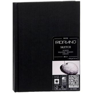 19100003 Альбом для эскизов Sketch Book 25х35 см 110 г/м.кв. 80 листов в переплете по длинной стороне Fabriano Италия