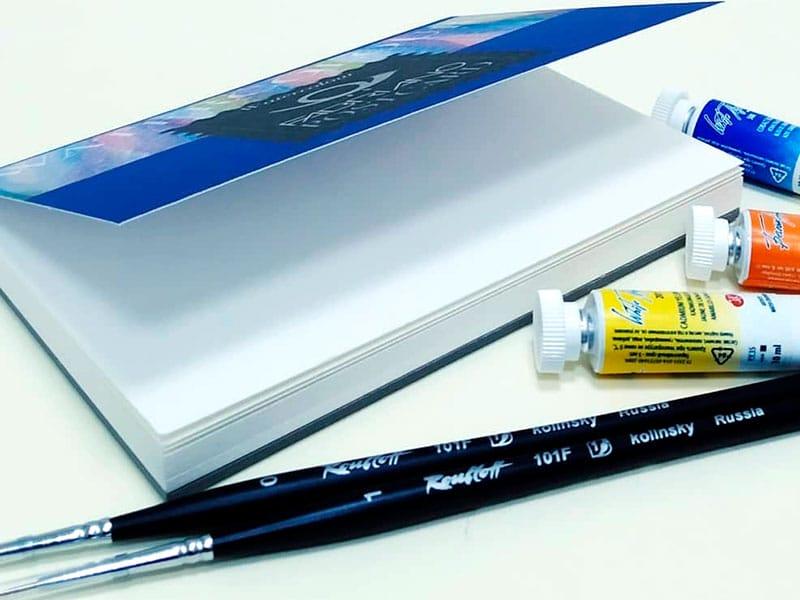 Альбом Watercolour заготовка для открыток Fabriano