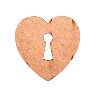 Заготовка деревянная Фигурка «Сердце 8» 100х100 мм МДФ Rosa Talent