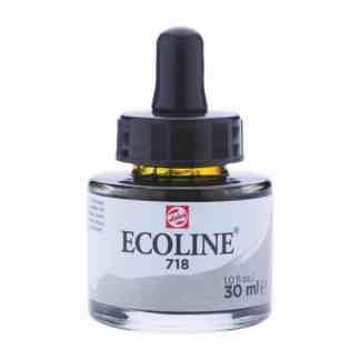 Акварельная краска жидкая Ecoline 718 Серый теплый 30 мл с пипеткой