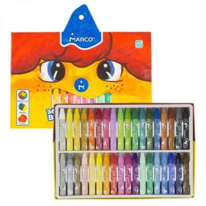 Набор масляной пастели Colorite 36 цв. шестигранные Marco 1100OP-36CB