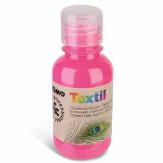 Акриловая краска для текстиля 125 мл 370 флуоресцентный розовый Primo Италия