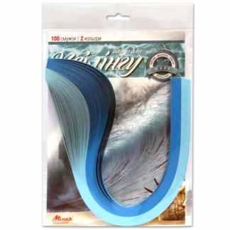 Набор для квиллинга №12 «Серия море» 2 цвета 5х420 мм 160 г/м.кв. 100 полосок