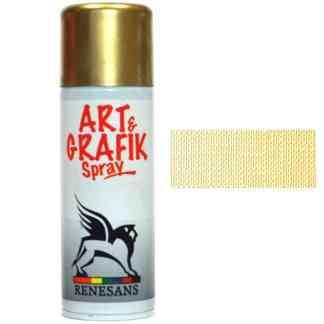 Краска акриловая в аэрозоле  01 металлик золото хромированное  200 мл Renesans