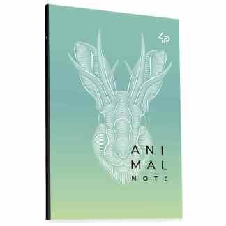 Блокнот «Animal note» green В6 (125х176 мм) 70 г/м.кв. 80 листов склейка Profiplan