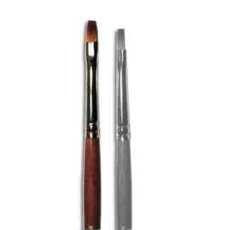 Кисточка «Живопись» 1122 Синтетика плоская № 02 короткая ручка рыжий ворс