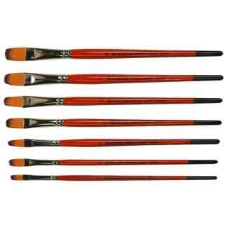 Кисточка «Kolos» Carrot 1097FR Синтетика овальная №08 короткая ручка рыжий ворс