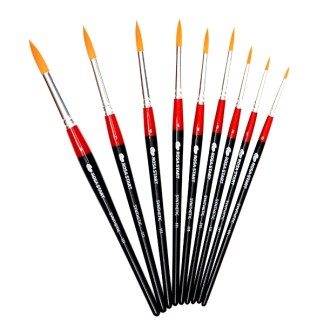 Кисточка «Rosa Start» 111 Синтетика круглая №07 короткая ручка рыжий ворс