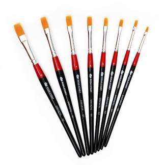 Кисточка «Rosa Start» 101 Синтетика плоская №12 короткая ручка рыжий ворс