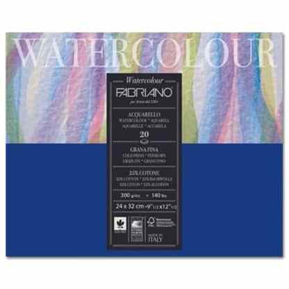 73612432 Альбом для акварели Watercolour 24х32 см 300 г/м.кв. 20 листов склейка с 4 сторон Fabriano Италия