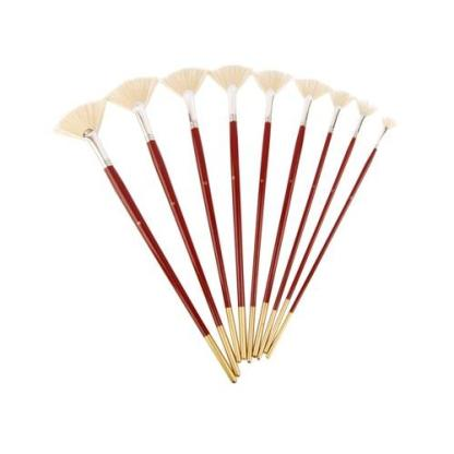 Кисточка «Kolos» Щетина веерная №06 длинная ручка белый ворс