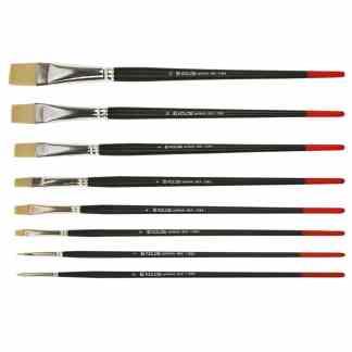 Кисточка «Kolos» Milk 1108B Синтетика плоская №08 длинная ручка белый ворс