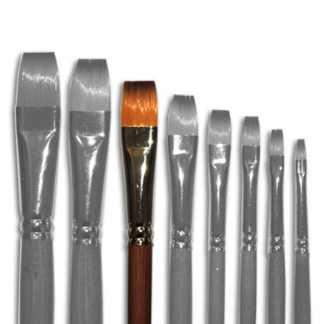 Кисточка «Живопись» 1112 Синтетика плоская № 12 длинная ручка рыжий ворс