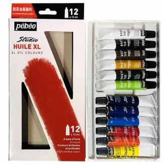 Набор масляных красок Studio 12 цветов по 12 мл картонная коробка Pebeo