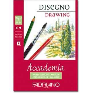 41204259 Альбом для влажных техник склейка Accademia А2 (42х59,4 см) 200 г/м.кв. 30 листов Fabriano Италия