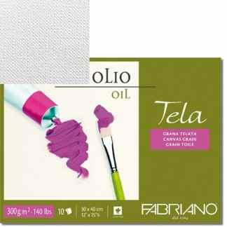 68004256 Альбом для масляной живописи Tela 42х56 см 300 г/м.кв. 10 листов Fabriano Италия