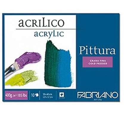 40004050 Альбом для акриловой живописи Pittura 40х50 см 400 г/м.кв. 10 листов Fabriano Италия