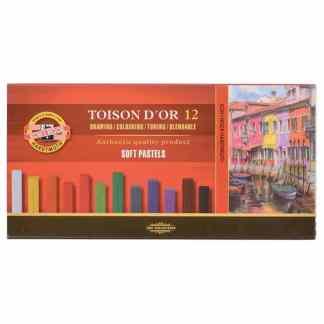 Набор сухой мягкой пастели Toison D`or 12 цветов Koh-i-Noor