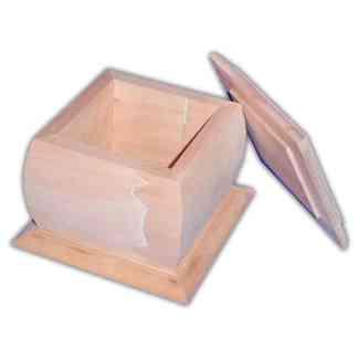 Заготовка деревянная «Шкатулка» 140х140х100 мм ольха 1,071 Украина