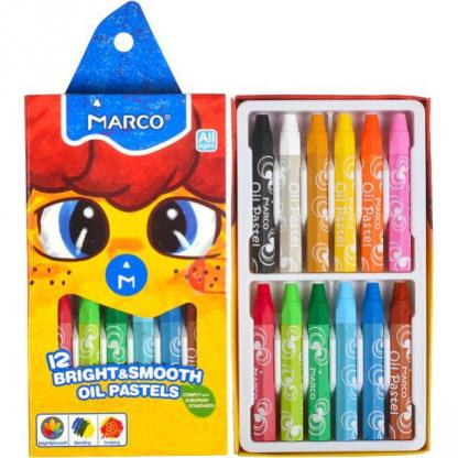 Набор масляной пастели Colorite 12 цветов шестигранные Marco