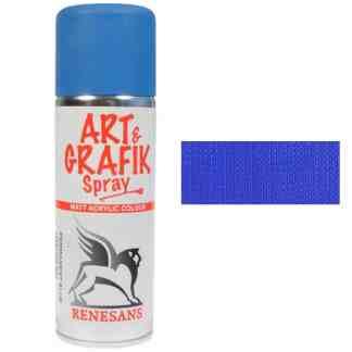 Краска акриловая в аэрозоле 06 Синяя 200мл Renesans