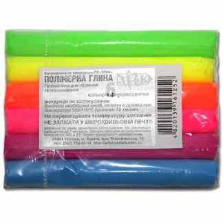 Набор полимерной глины 6 цветов ФЦ по 17 г «Трек» Украина
