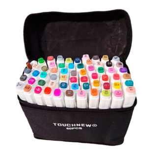 Набор маркеров двухсторонних  60 шт TouchFive TOUCH60-CH