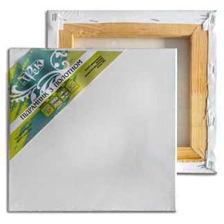 Подрамник с холстом упакованный белый хлопок (Италия) подвернутый 50х70 Планка 40х17 «Трек» Украина