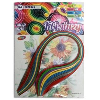 Набор для квиллинга №4 «Радуга» 7 цветов 5х420 мм 80 г/м.кв. 105 полосок