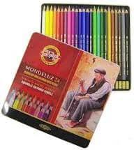 Набор акварельных карандашей Mondeluz 24 цвета в металлической коробке Koh-i-Noor