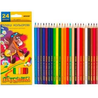 1010-24CB Карандаши цветные 24 цвета шестигр. «Пегашка» Marco