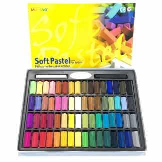 Набор сухой мягкой пастели 64 цвета 1/2 квадратная MPS-64 Mungyo